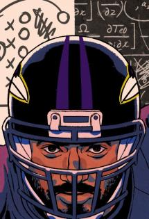 Illustration of John Urschel by Patrick Leger