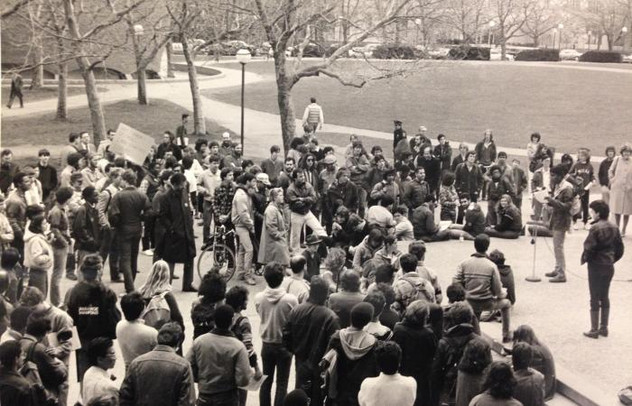 Anti-Apartheid student rally, 1986