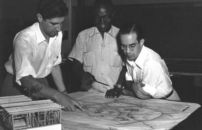 Architecture students, 1953