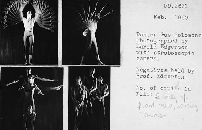 Catalog card: Gus Solomons and Harold Edgerton, 1960