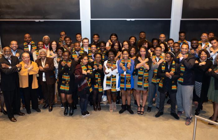 Black Graduate Celebration: Wakanda salute, 2018
