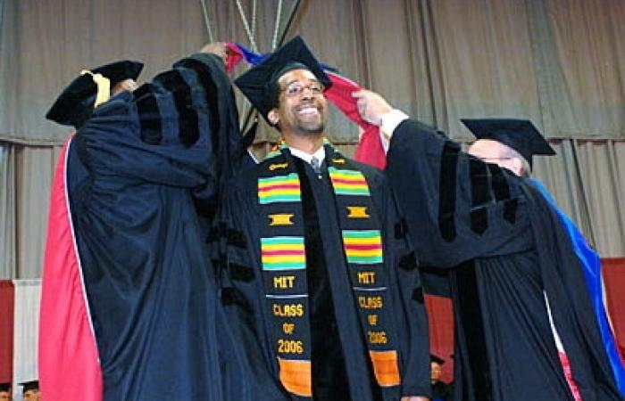 Doctoral hooding of Anton Thomas, 2006