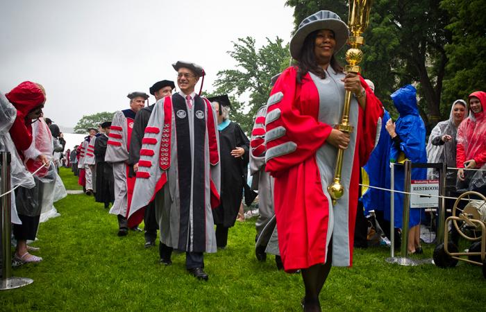 Chiquita White leads commencement procession, 2013