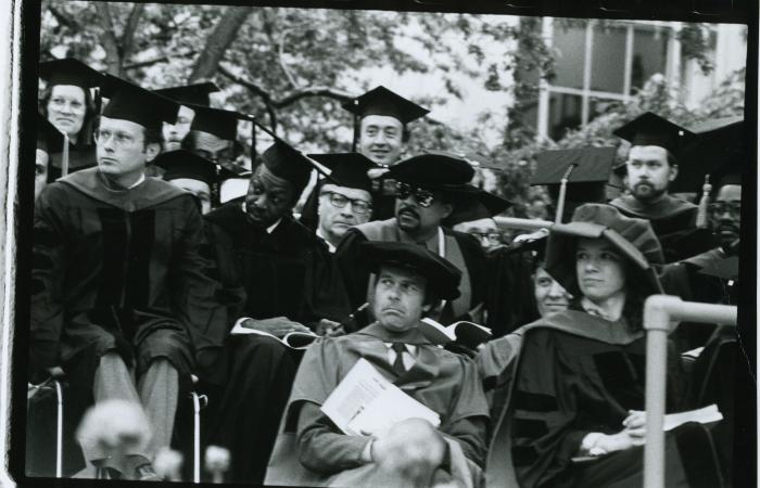Faculty at 1984 Commencement