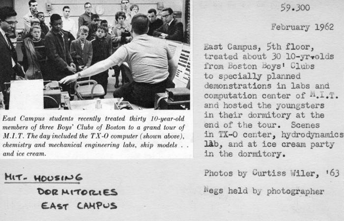 Catalog card: Boston Boys' Club members and East Campus students, 1962