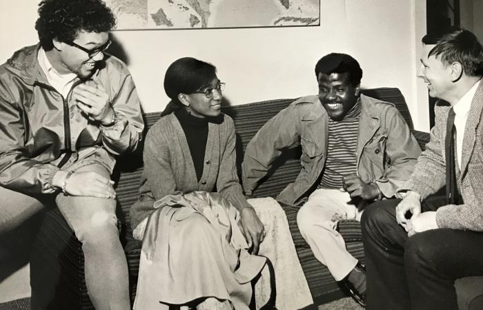 BSU leaders meet with MIT Admissions, ca. 1969