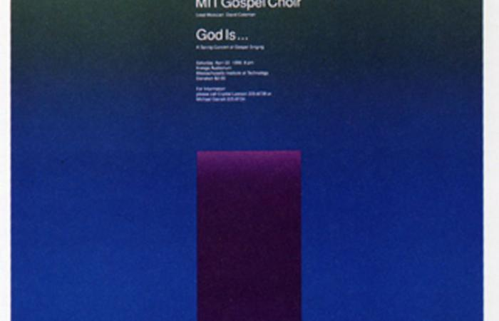 MIT Gospel Choir poster