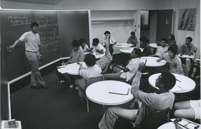 Interphase trigonometry class, 1975