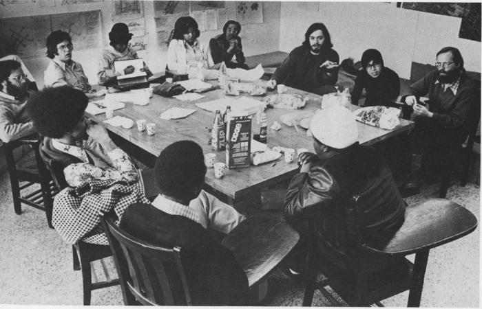 Prof. Tunney Lee and students, 1975