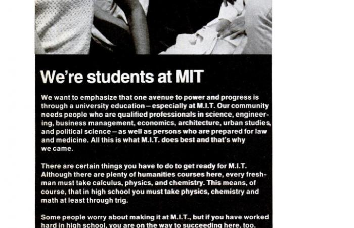 MIT recruitment ad in EBONY Magazine, 1970