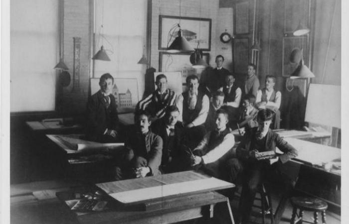 Robert R. Taylor with classmates
