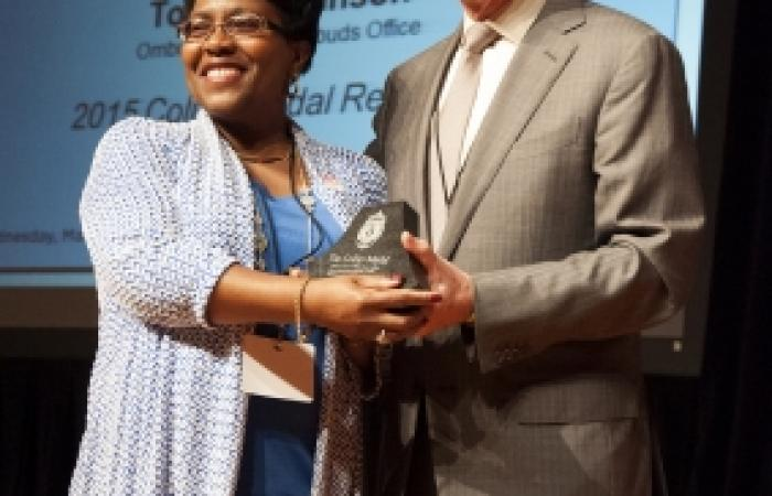 Toni P. Robinson: Collier Medal of Service, 2015