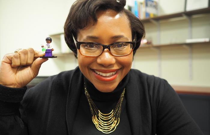 Paula Hammond and Lego doppelganger, 2015