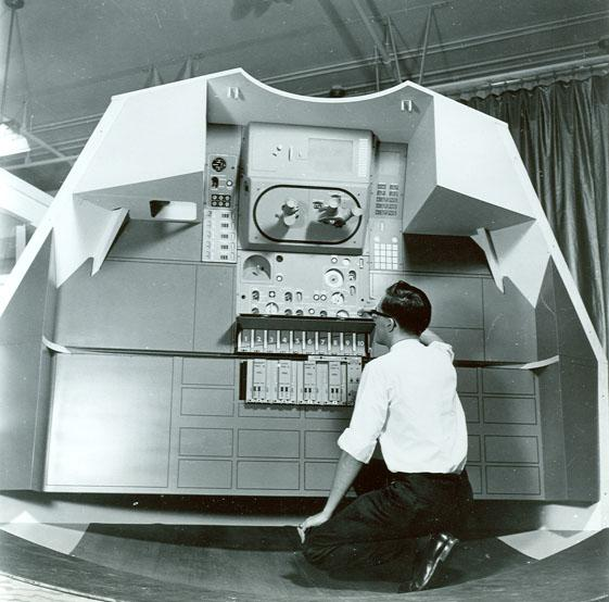 Apollo Mockup of spacecraft guidance system, early 1960s