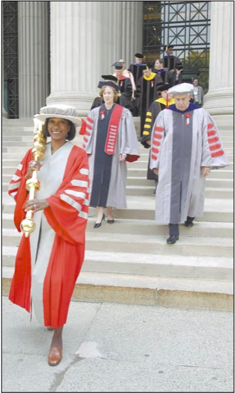 Linda Sharpe at Commencement, 2005