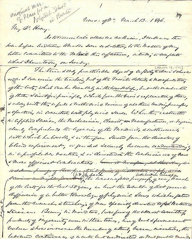 Letter from William B. Rogers to Henry D. Rogers, 1846