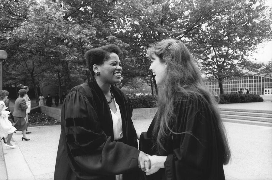 Lynda Jordan at Commencement, 1985