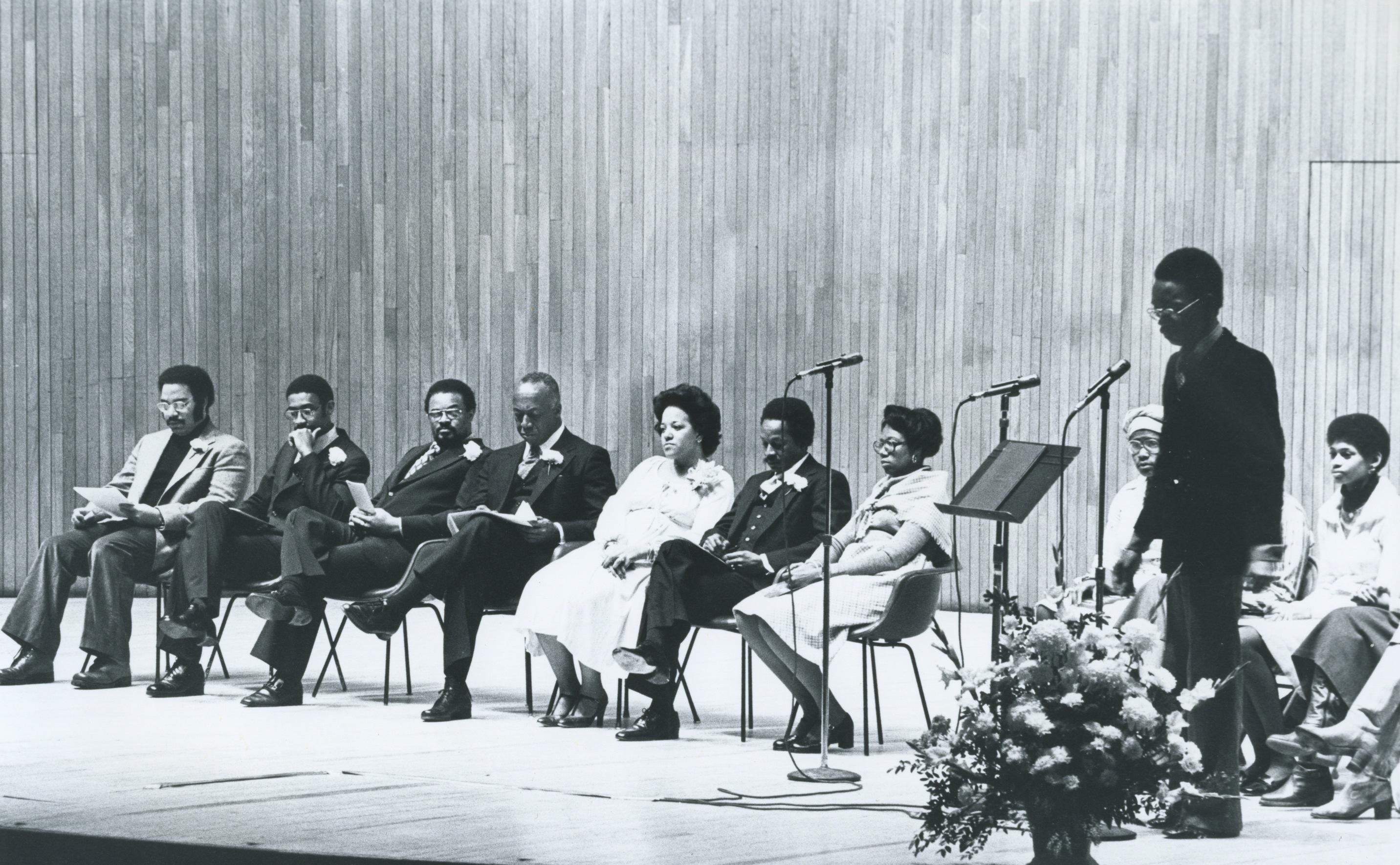 MLK Celebration panel discussion, 1978.