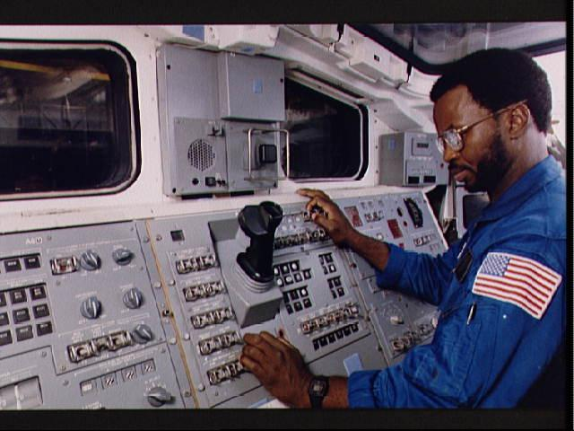 Ron McNair during astronaut training, 1983