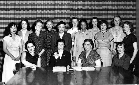 Inez Hazel at the SWE National Convention, 1956