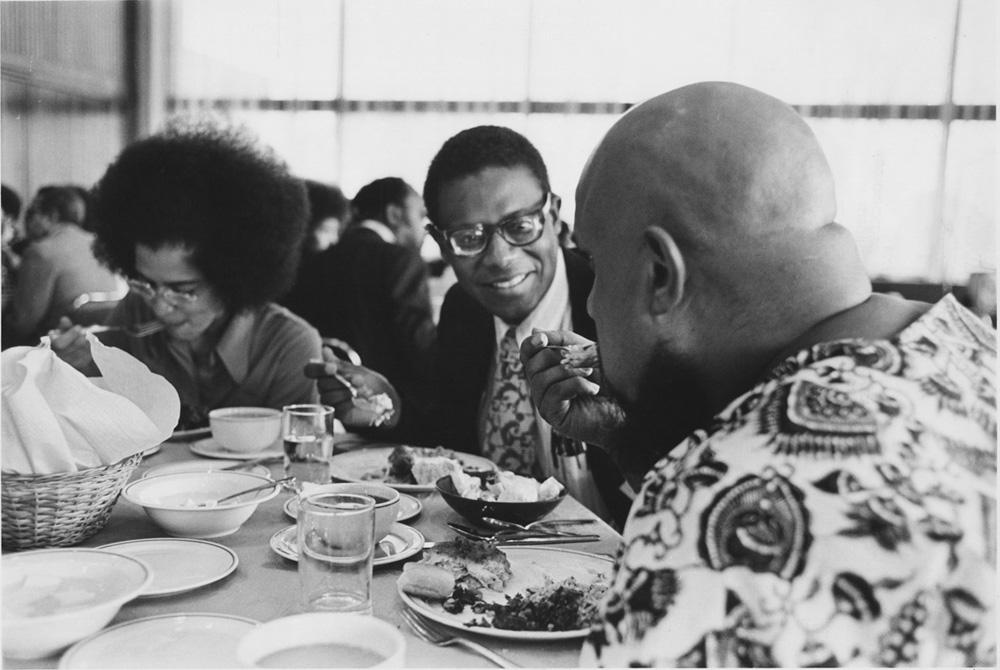 Ernest Cohen at a reunion of early Black alums, 1973