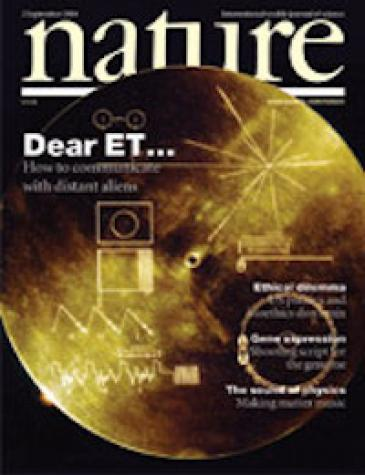 Cover of Nature (September 2004)